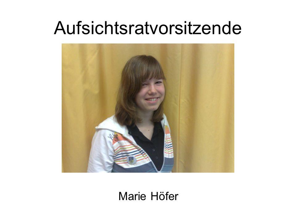 Aufsichtsratvorsitzende Marie Höfer