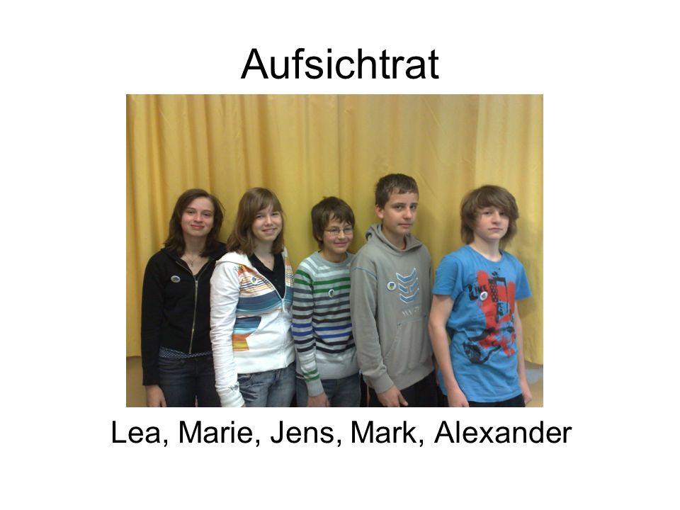 Aufsichtrat Lea, Marie, Jens, Mark, Alexander