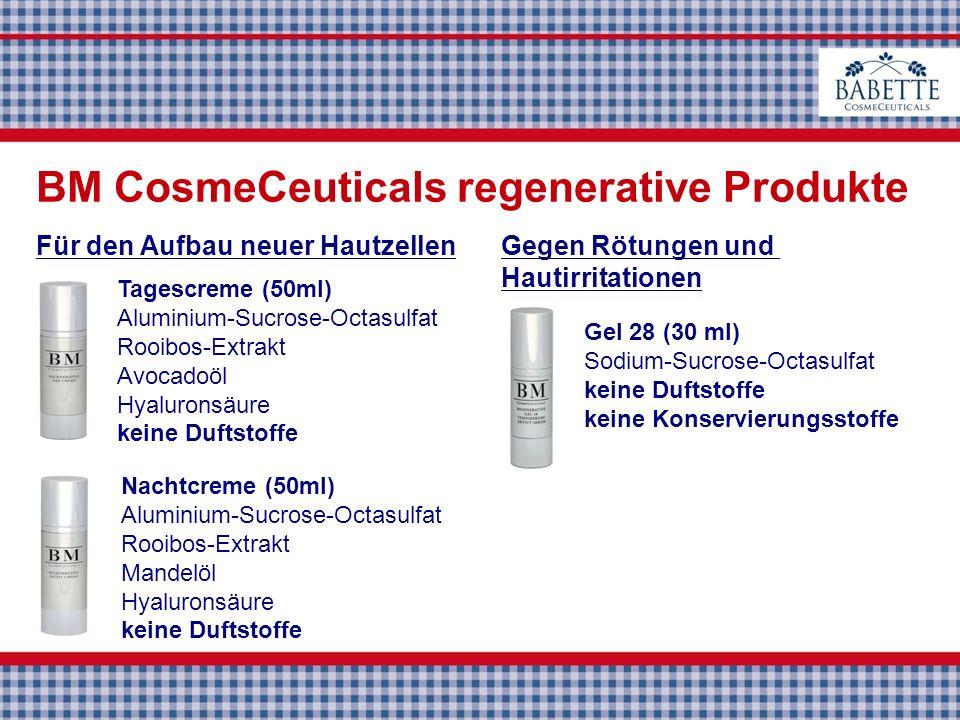 Tagescreme (50ml) Aluminium-Sucrose-Octasulfat Rooibos-Extrakt Avocadoöl Hyaluronsäure keine Duftstoffe Nachtcreme (50ml) Aluminium-Sucrose-Octasulfat