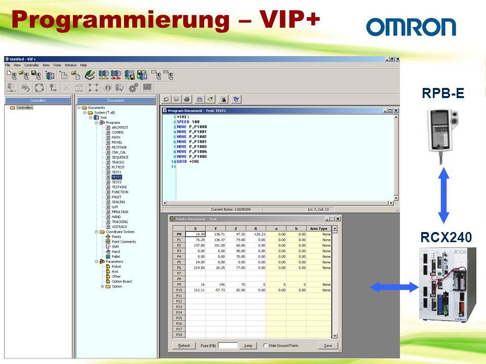 Programmierung – VIP+ RPB-E RCX240