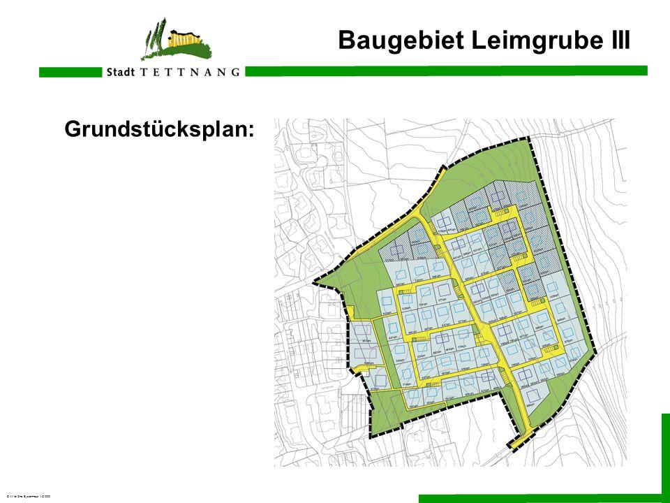 © All for One Systemhaus AG 2000 Grundstücksplan: Baugebiet Leimgrube III
