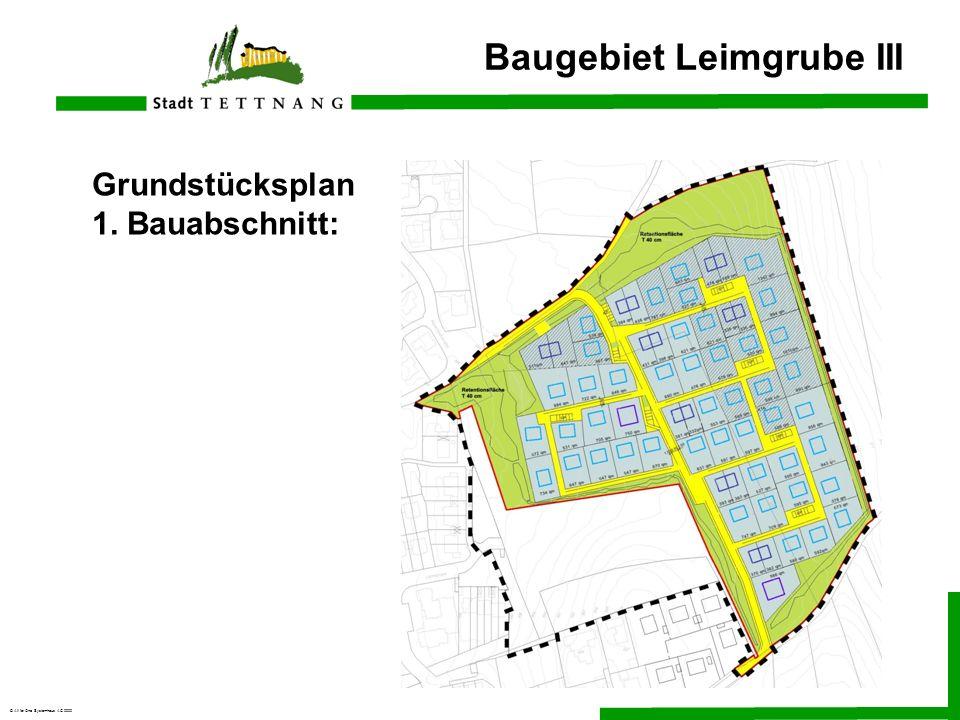 © All for One Systemhaus AG 2000 Grundstücksplan 1. Bauabschnitt: Baugebiet Leimgrube III