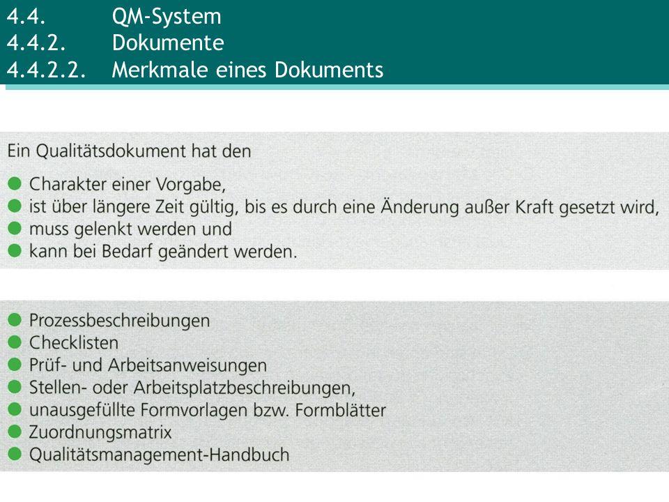 4.4.QM-System 4.4.2.Dokumente 4.4.2.2.Merkmale eines Dokuments
