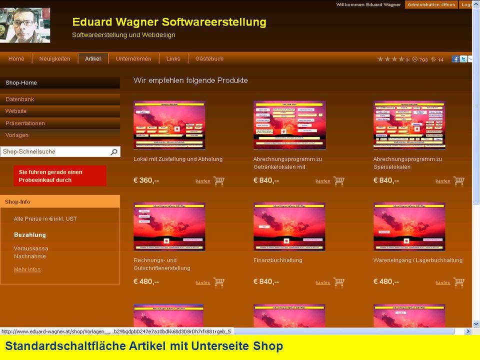 Standardschaltfläche Artikel mit Unterseite Shop