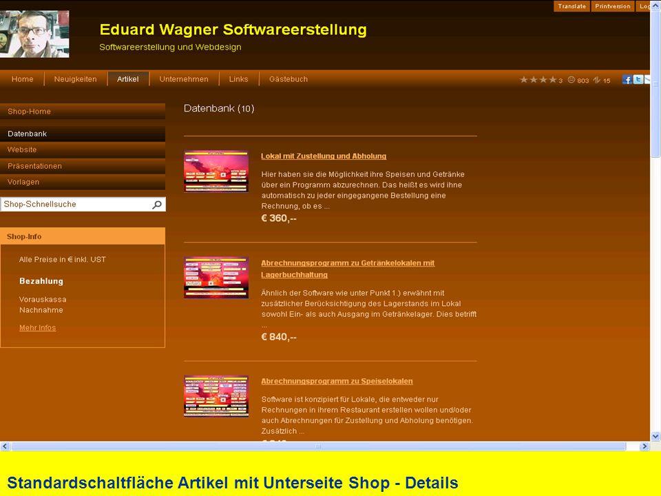 Standardschaltfläche Artikel mit Unterseite Shop - Details