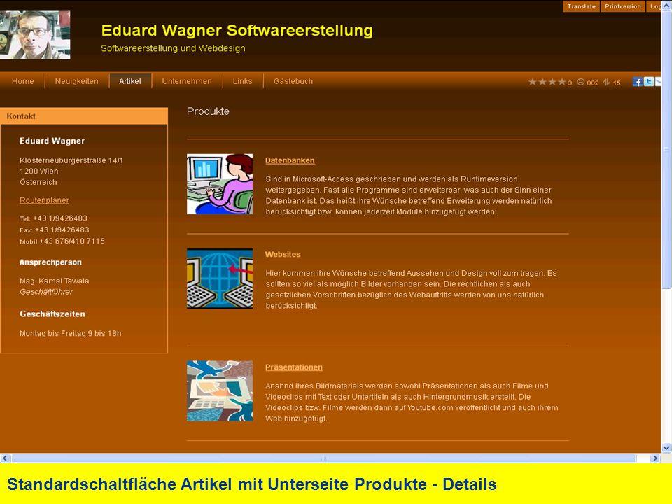 Standardschaltfläche Artikel mit Unterseite Produkte - Details