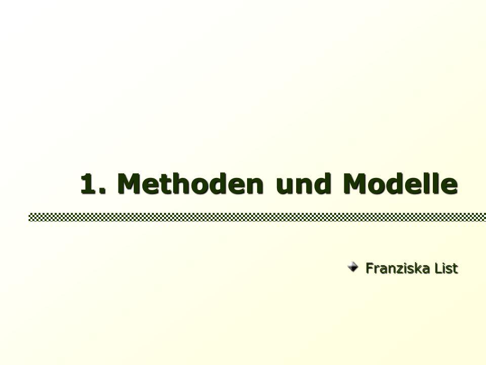 1. Methoden und Modelle Franziska List Franziska List