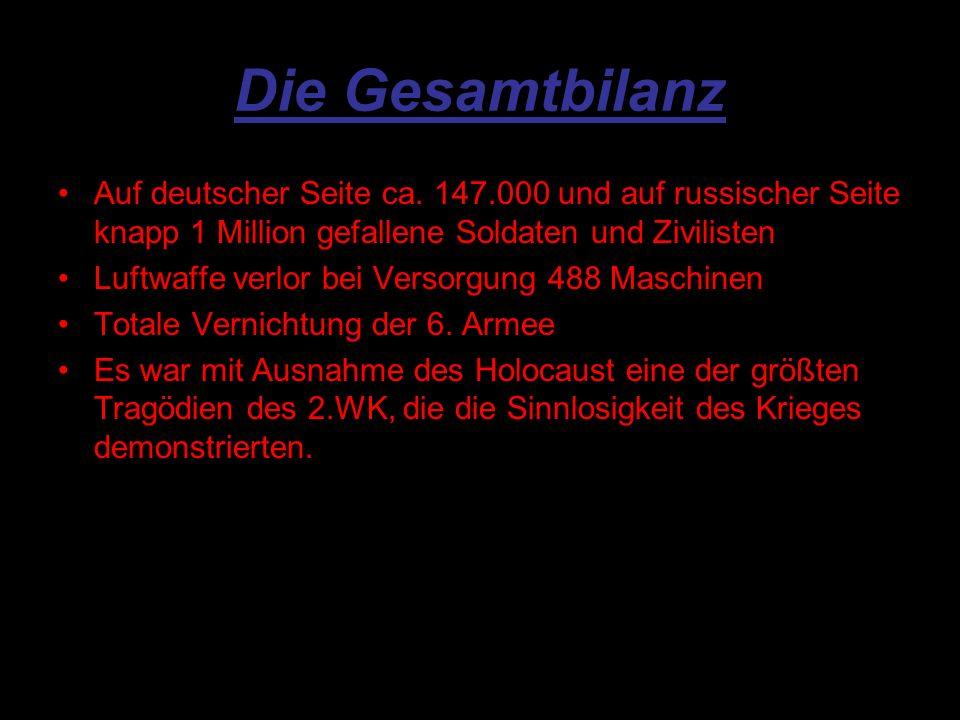 Die Gesamtbilanz Auf deutscher Seite ca.