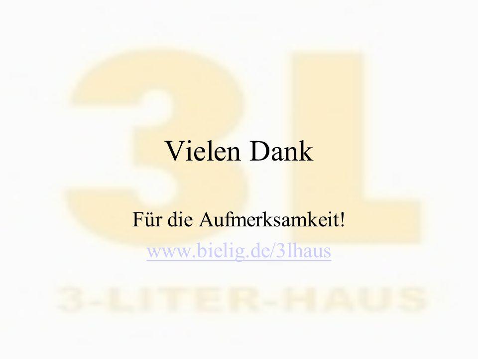 Vielen Dank Für die Aufmerksamkeit! www.bielig.de/3lhaus