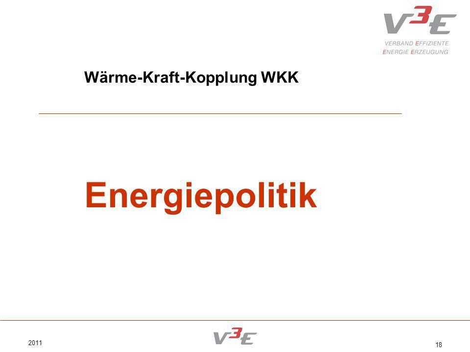 2011 18 Wärme-Kraft-Kopplung WKK Energiepolitik