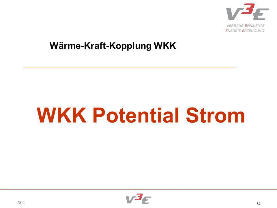 2011 34 Wärme-Kraft-Kopplung WKK WKK Potential Strom