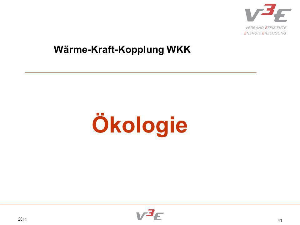 2011 41 Wärme-Kraft-Kopplung WKK Ökologie