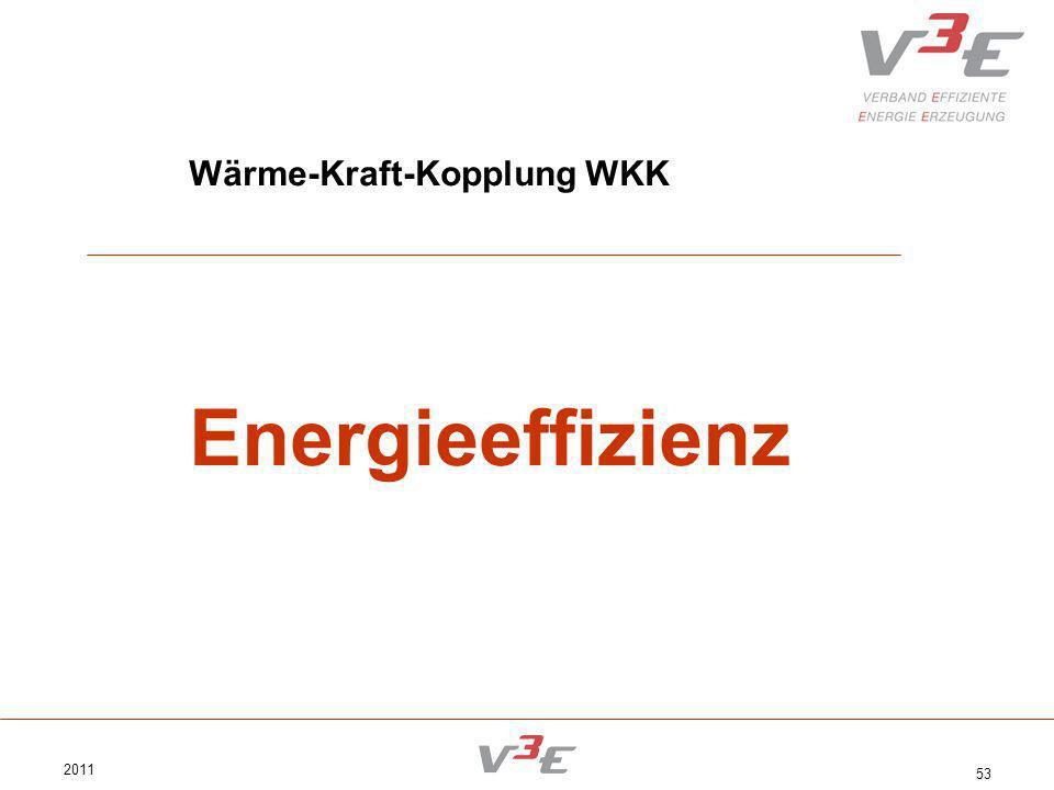2011 53 Wärme-Kraft-Kopplung WKK Energieeffizienz