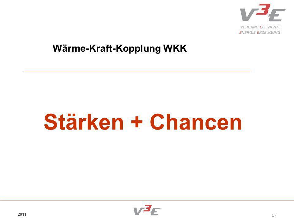 2011 58 Wärme-Kraft-Kopplung WKK Stärken + Chancen