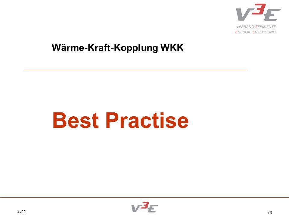 2011 76 Wärme-Kraft-Kopplung WKK Best Practise