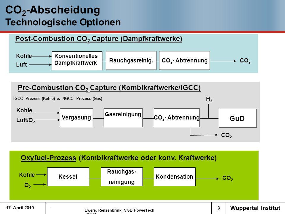 14 Langfristszenarien von CCS und EE in Deutschland Vergleich CCS-EE/KWK