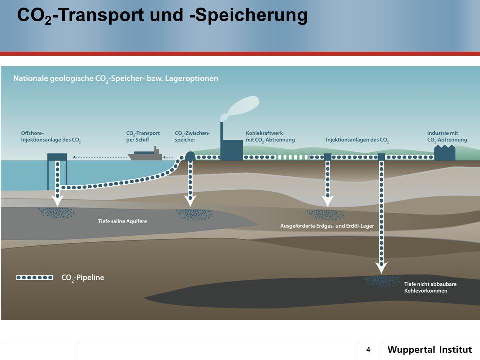 5 17.04.10 CO 2 -Speicherung Speicherkapazität in Deutschland – hohe Unsicherheiten WI-Basis: Jährlich einzuspeicherndes CO 2 : 454 Mt Reichweite von ca.
