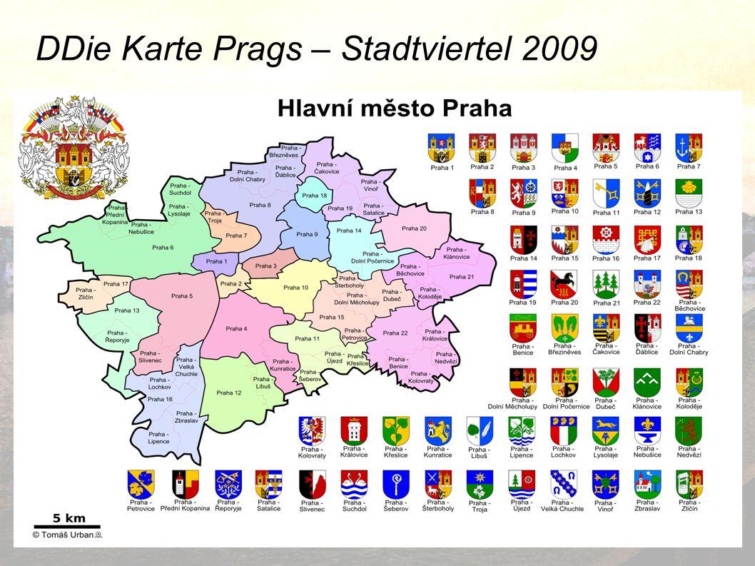 DDie Karte Prags – Stadtviertel 2009