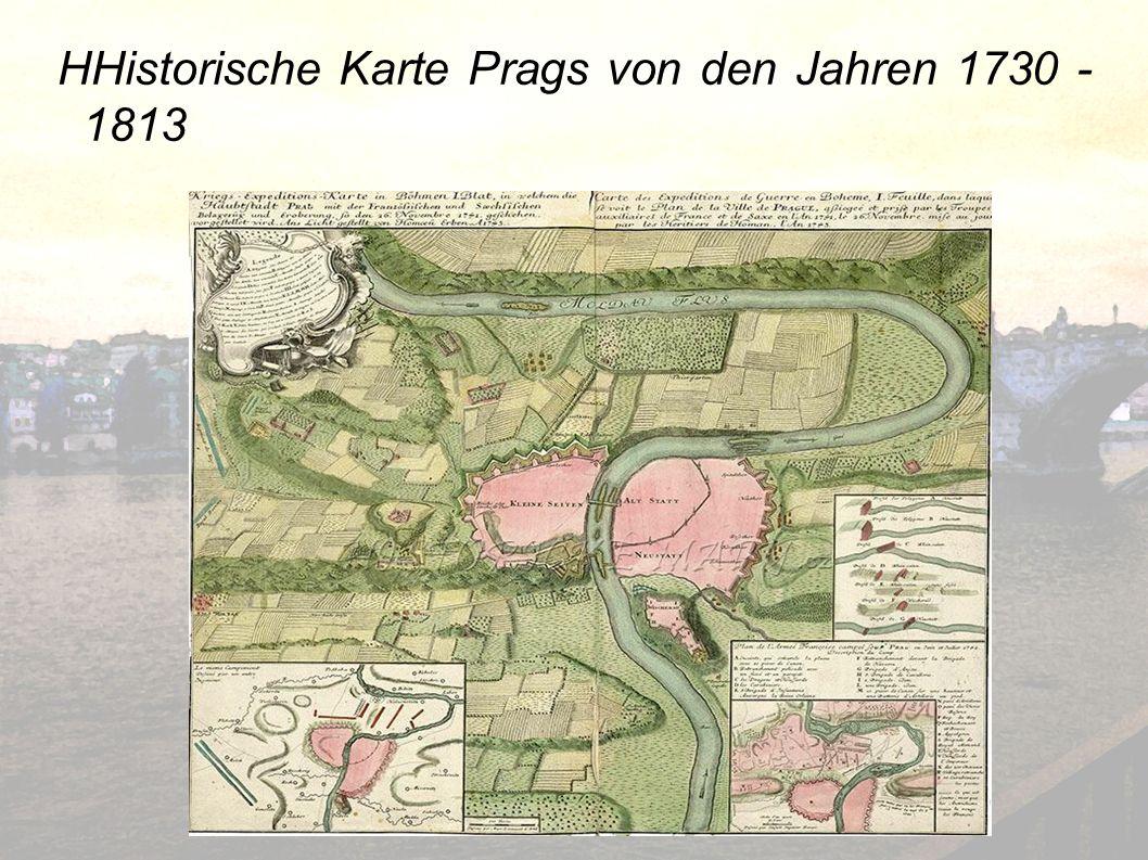 HHistorische Karte Prags von den Jahren 1730 - 1813