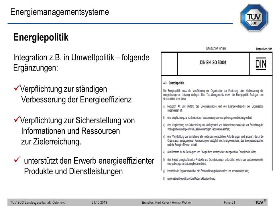 Energiemanagementsysteme Energiepolitik Integration z.B.