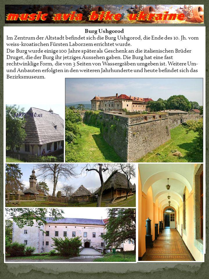 Schloss «Palanok».Diese Burg gilt als das Stammhaus der transsilvanischen Fürsten Rakozi.