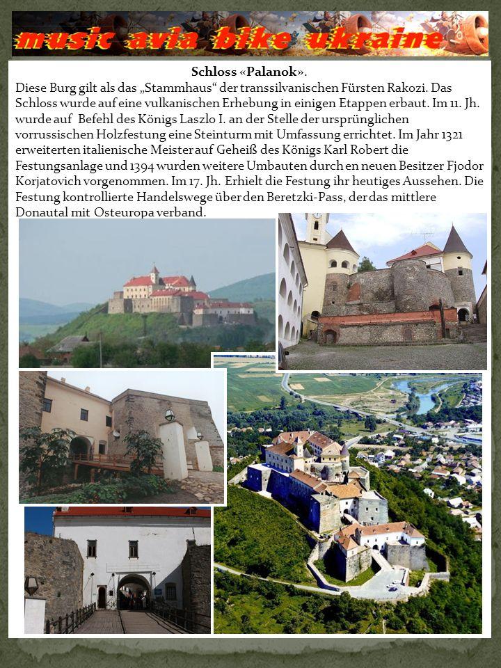 Schloss «Palanok». Diese Burg gilt als das Stammhaus der transsilvanischen Fürsten Rakozi.