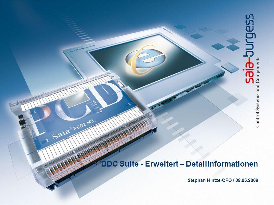 DDC Suite - Erweitert – Detailinformationen Stephan Hintze-CFO / 08.05.2009
