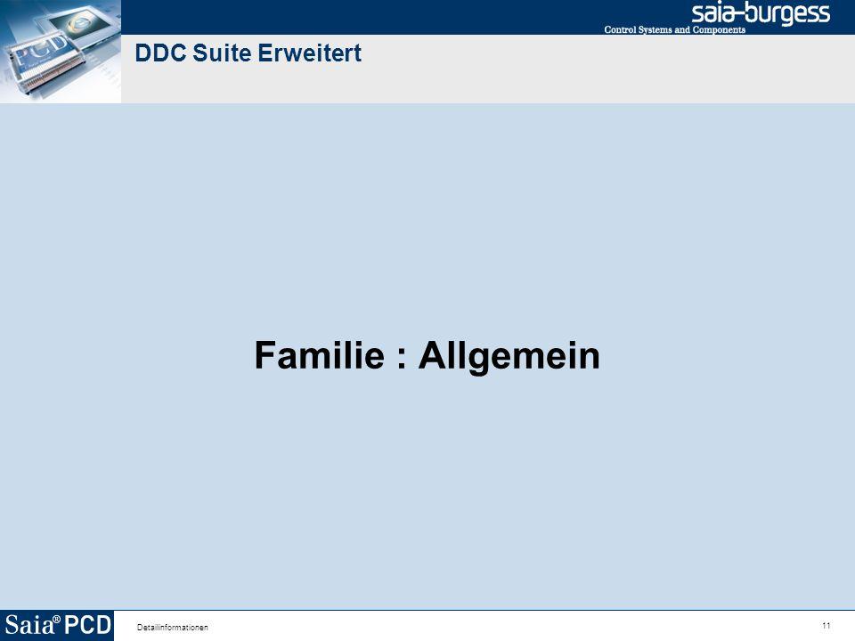11 Detailinformationen DDC Suite Erweitert Familie : Allgemein