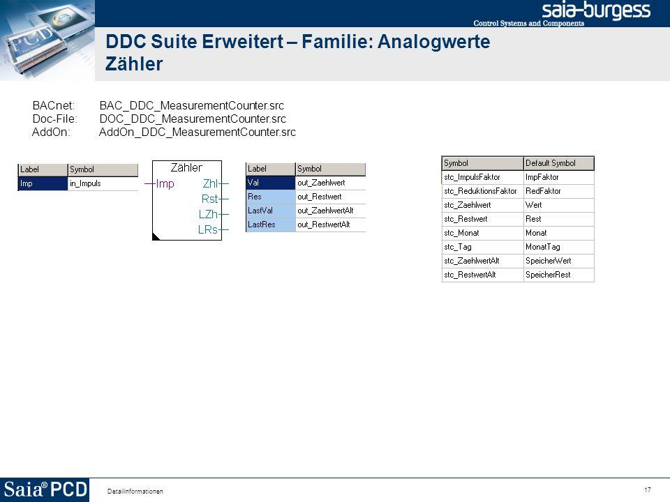 17 Detailinformationen DDC Suite Erweitert – Familie: Analogwerte Zähler BACnet:BAC_DDC_MeasurementCounter.src Doc-File:DOC_DDC_MeasurementCounter.src