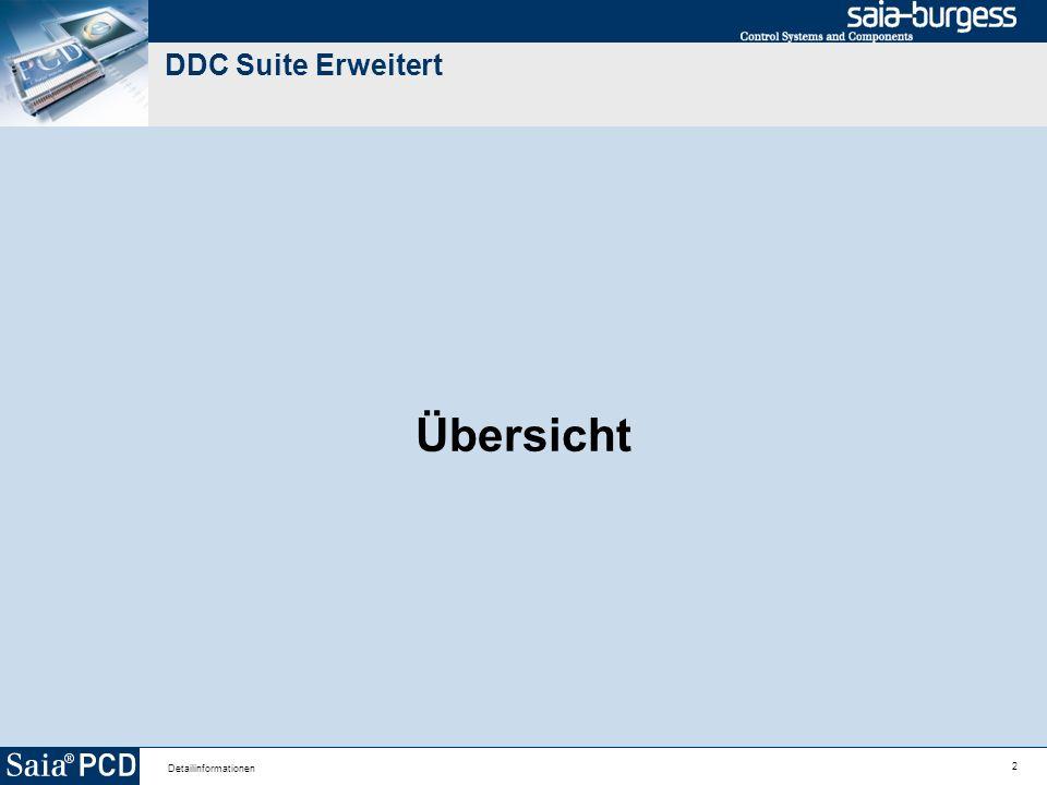 2 Detailinformationen DDC Suite Erweitert Übersicht