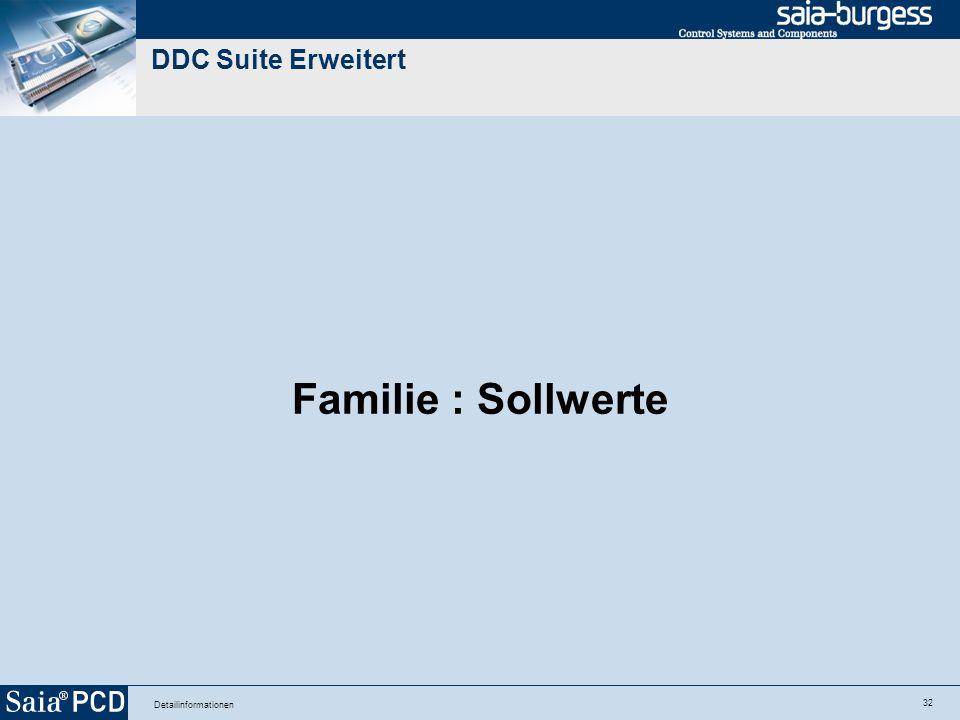 32 Detailinformationen DDC Suite Erweitert Familie : Sollwerte