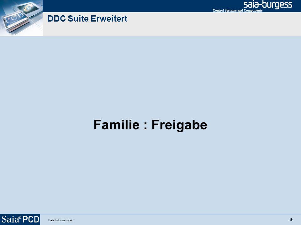 39 Detailinformationen DDC Suite Erweitert Familie : Freigabe