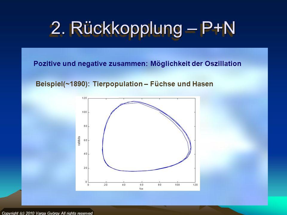 2. Rückkopplung – P+N Copyright (c) 2010 Varga György All rights reserved Pozitive und negative zusammen: Möglichkeit der Oszillation Beispiel(~1890):