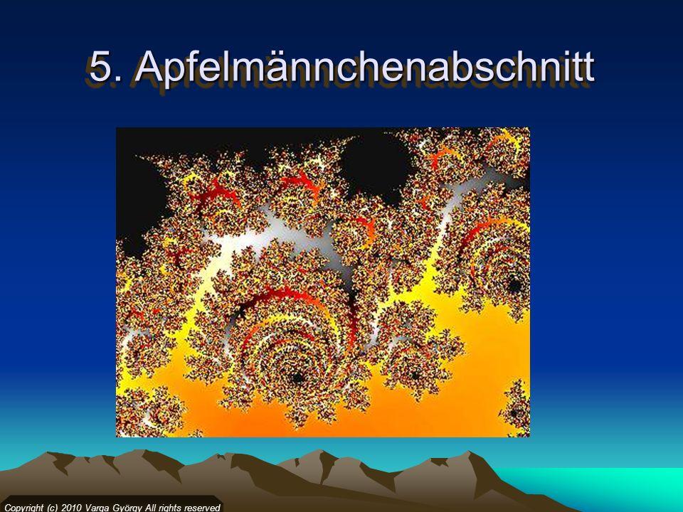 5. Apfelmännchenabschnitt Copyright (c) 2010 Varga György All rights reserved