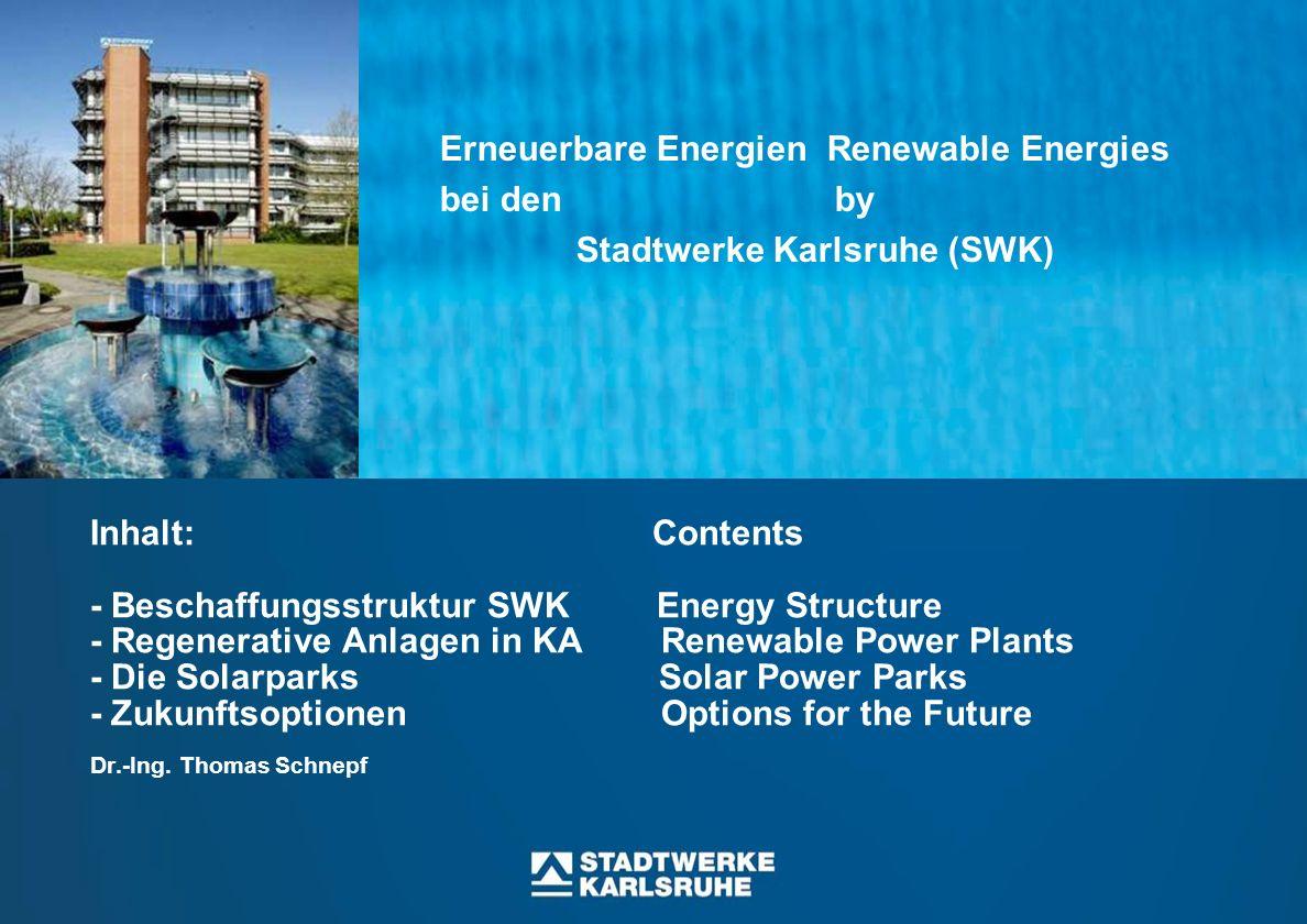 Folie 32 1992 ff: Bau der Fernwärme- Transportleitung vom HKW-West zum RDK der EnBW Stilllegung der Kessel 1 + 4 im HKW West Zwei Kraftwerke an einem Strang Two Power plants at one Pipe