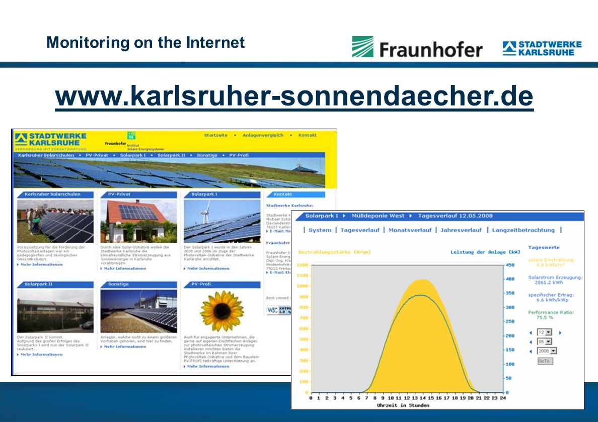 Monitoring on the Internet www.karlsruher-sonnendaecher.de