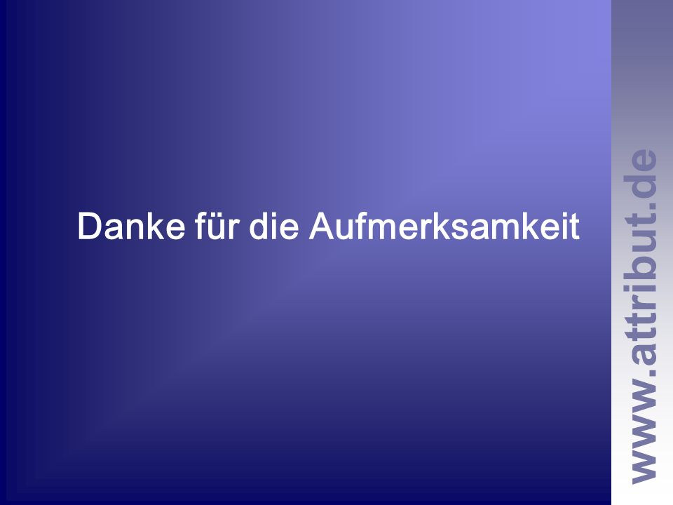 www.attribut.de Danke für die Aufmerksamkeit