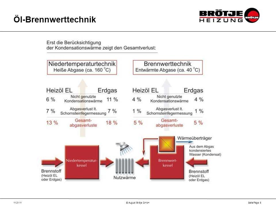 Seite/Page 6 11.01.11© August Brötje GmbH Öl-Brennwerttechnik