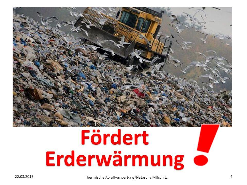 22.03.2013 Thermische Abfallverwertung/Natascha Mitschitz 4 Fördert Erderwärmung