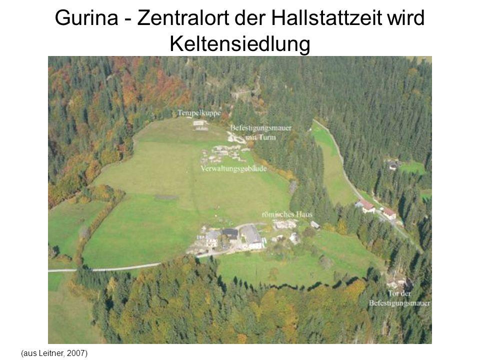 Gurina - Zentralort der Hallstattzeit wird Keltensiedlung (aus Leitner, 2007)