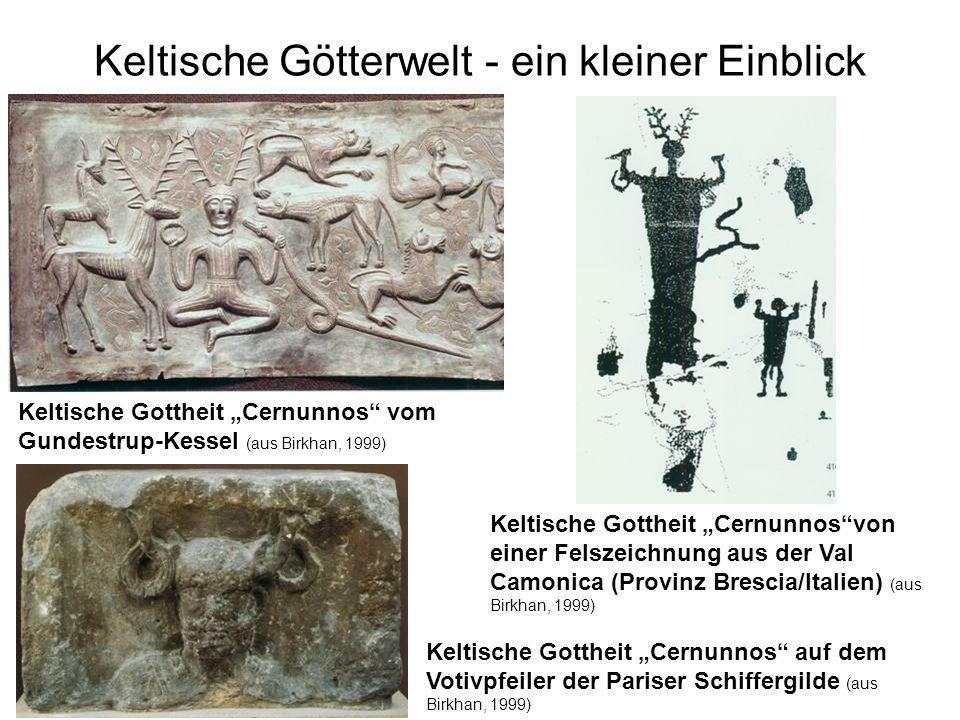 Keltische Götterwelt - ein kleiner Einblick Keltische Gottheit Cernunnos auf dem Votivpfeiler der Pariser Schiffergilde (aus Birkhan, 1999) Keltische