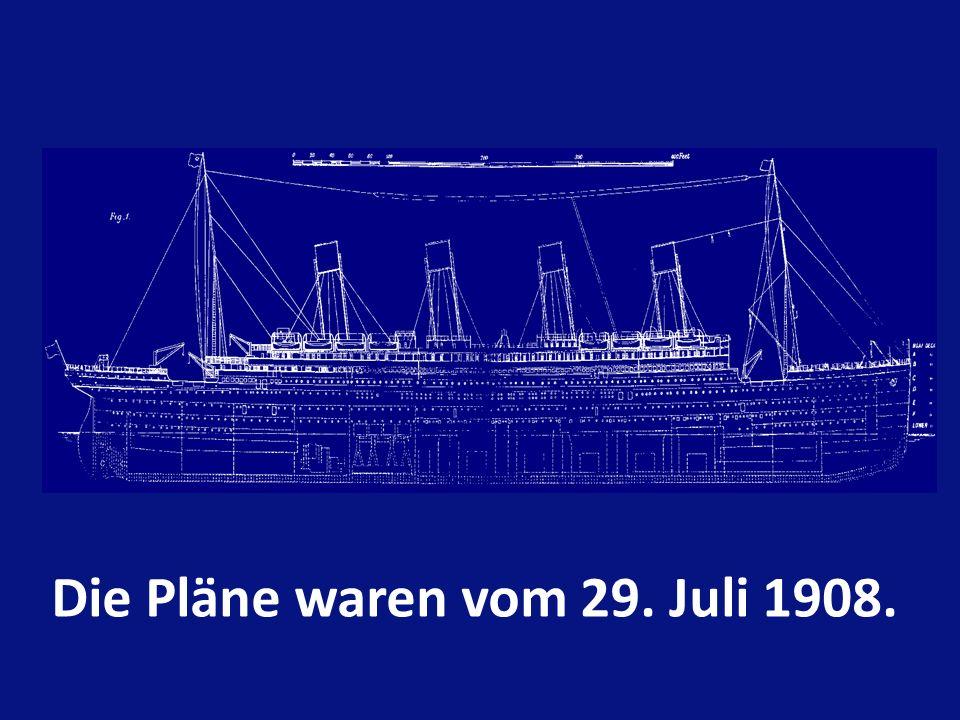 Tonnage 46.329 t. Länge 269 m. Höhe des Schornsteines 28.2 m. Antrieb 29 Kessel Maximale Geschwindigkeit 25 Knoten