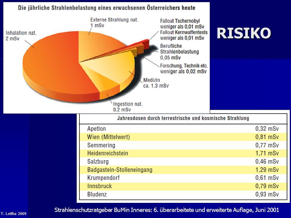 T. Leitha 2009 RISIKO Strahlenschutzratgeber BuMin Inneres: 6. überarbeitete und erweiterte Auflage, Juni 2001