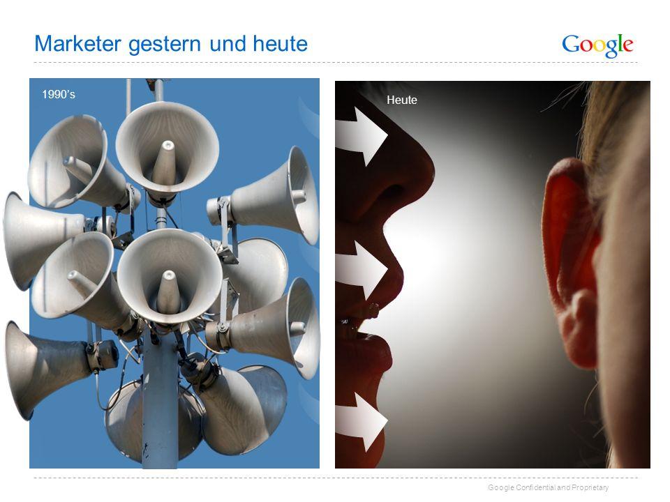 Google Confidential and Proprietary 1990s Heute Marketer gestern und heute