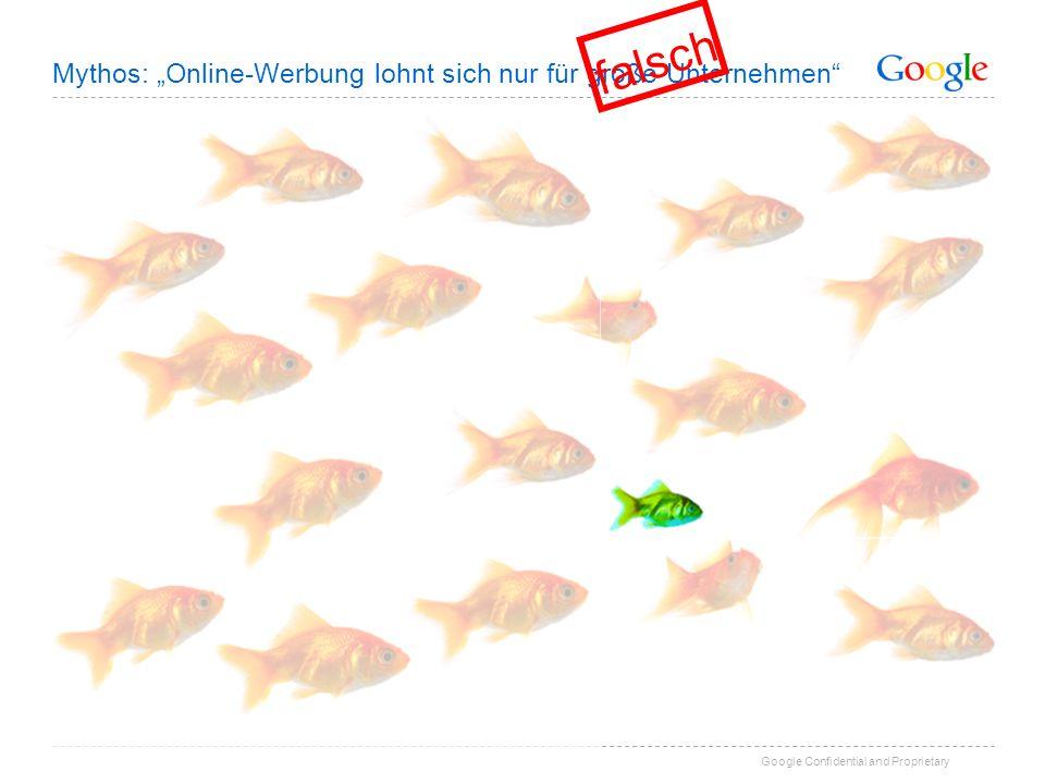 Google Confidential and Proprietary Mythos: Online-Werbung lohnt sich nur für große Unternehmen falsch