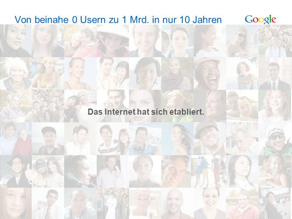 Google Confidential and Proprietary 3 Von beinahe 0 Usern zu 1 Mrd.