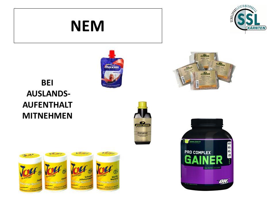 NEM BEI AUSLANDS- AUFENTHALT MITNEHMEN