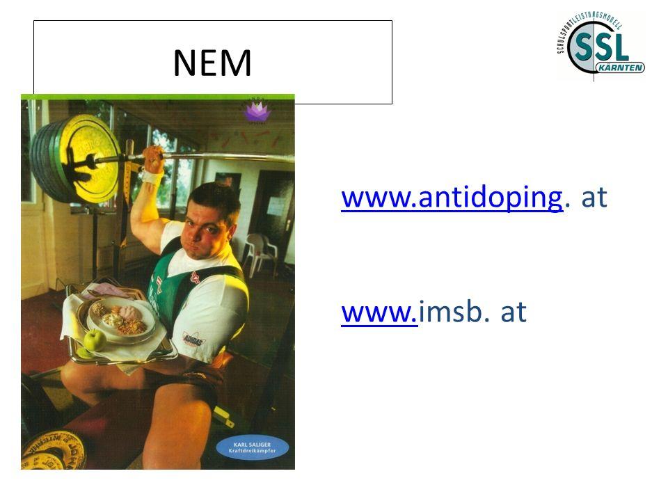 NEM www.antidopingwww.antidoping. at www.www.imsb. at