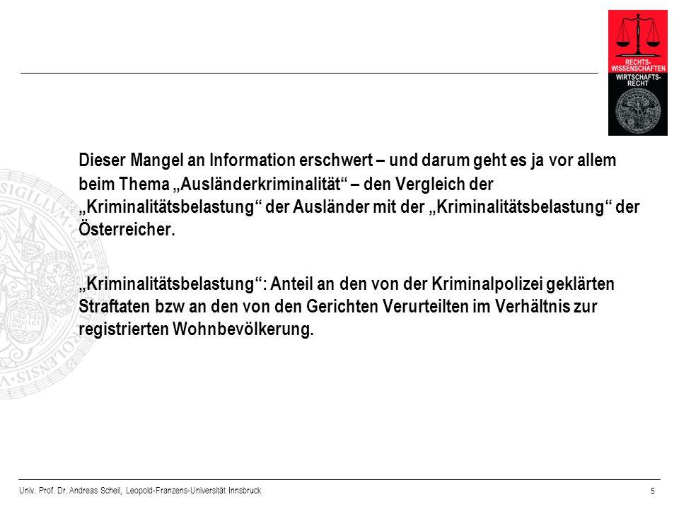 Univ. Prof. Dr. Andreas Scheil, Leopold-Franzens-Universität Innsbruck 5 Dieser Mangel an Information erschwert – und darum geht es ja vor allem beim