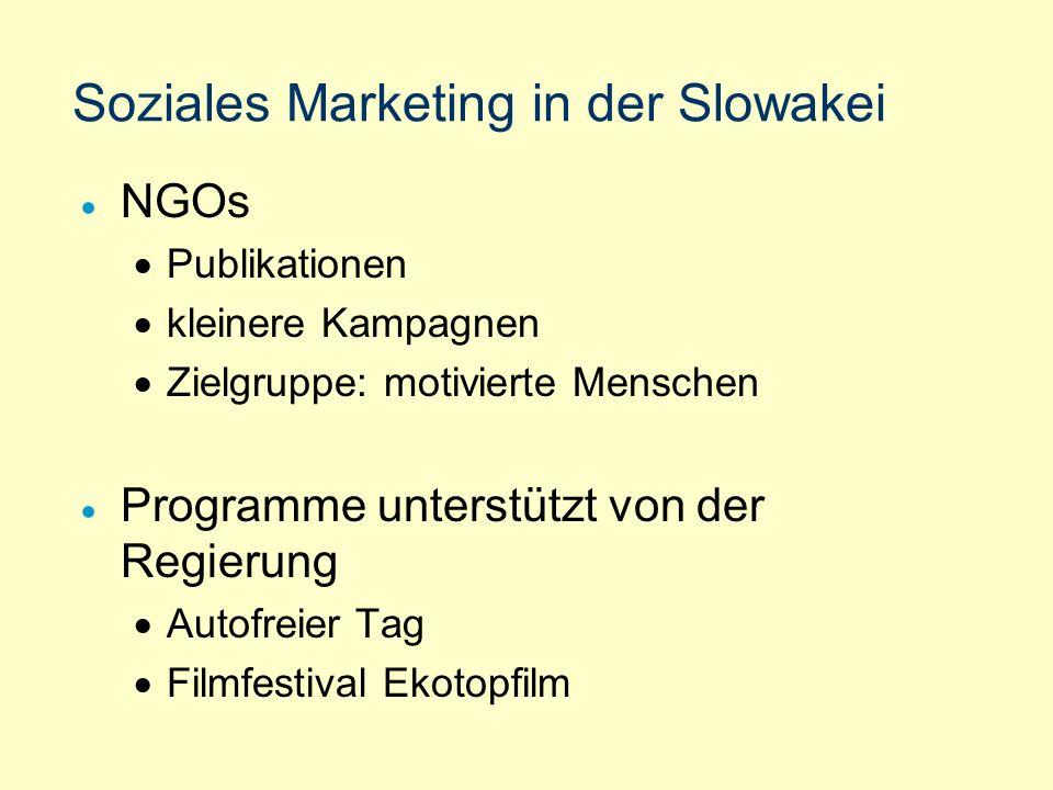 Soziales Marketing in der Slowakei